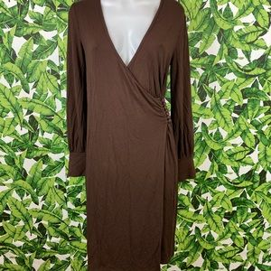 5 for $25 Mossimo Brown Faux Wrap Dress